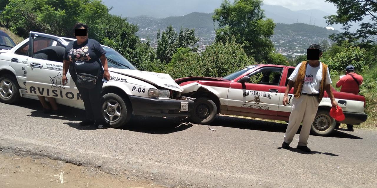 Aparatoso choque frontal   El Imparcial de Oaxaca