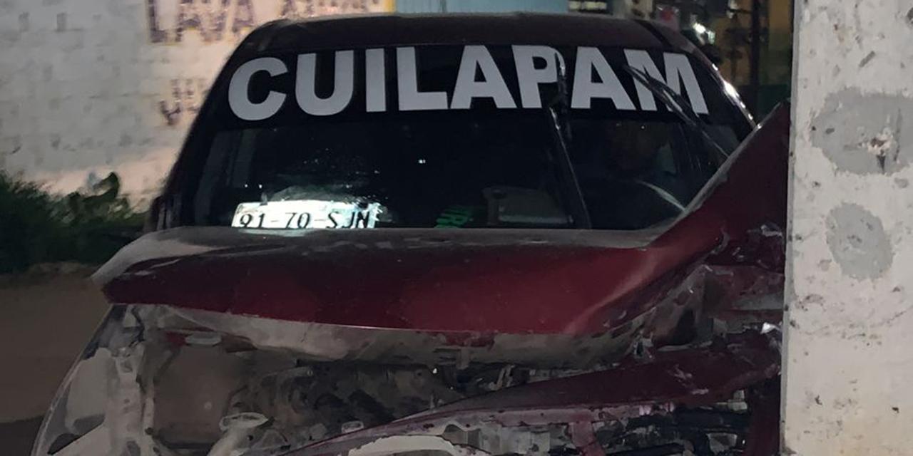 Ebrio taxista choca contra auto y poste en carretera de Arrazola-Xoxo   El Imparcial de Oaxaca