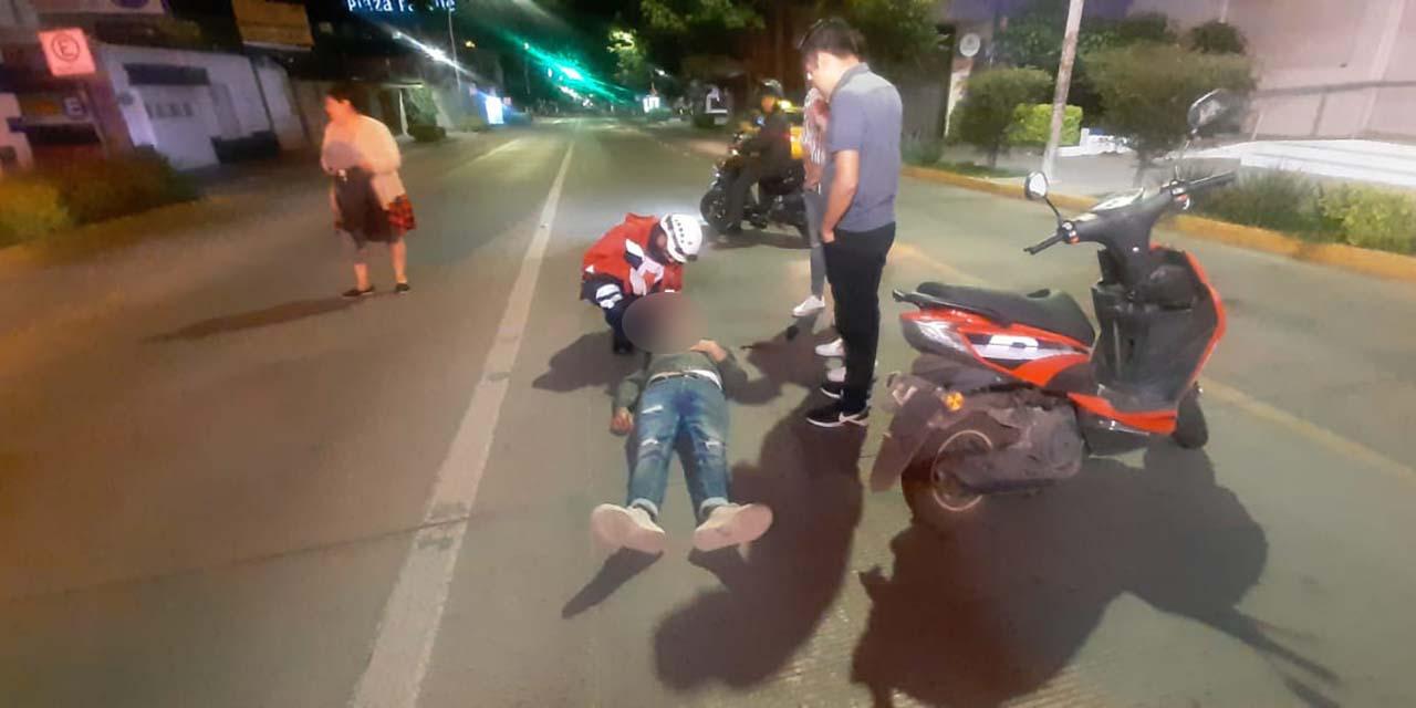 Derrapa motociclista en la Colonia Reforma | El Imparcial de Oaxaca