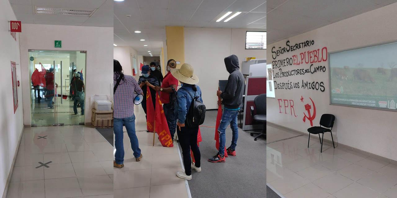 Toma FPR oficinas de la SEDAPA   El Imparcial de Oaxaca