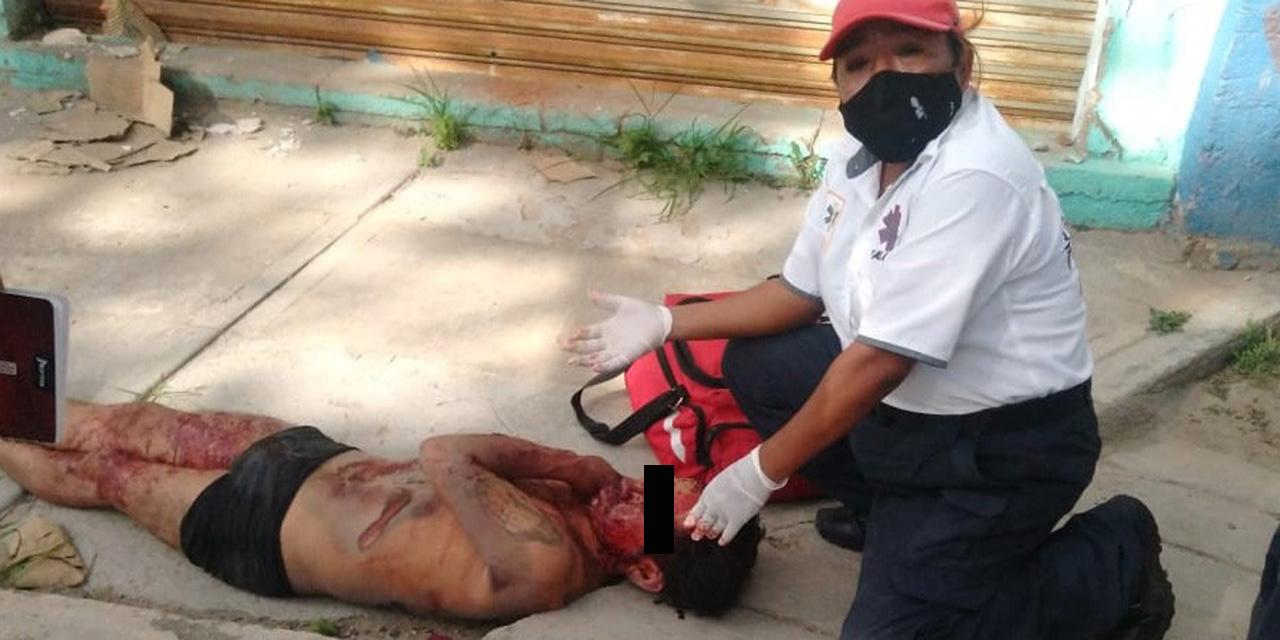 Vecinos de la colonia Libertad dan escarmiento a presunto ladrón