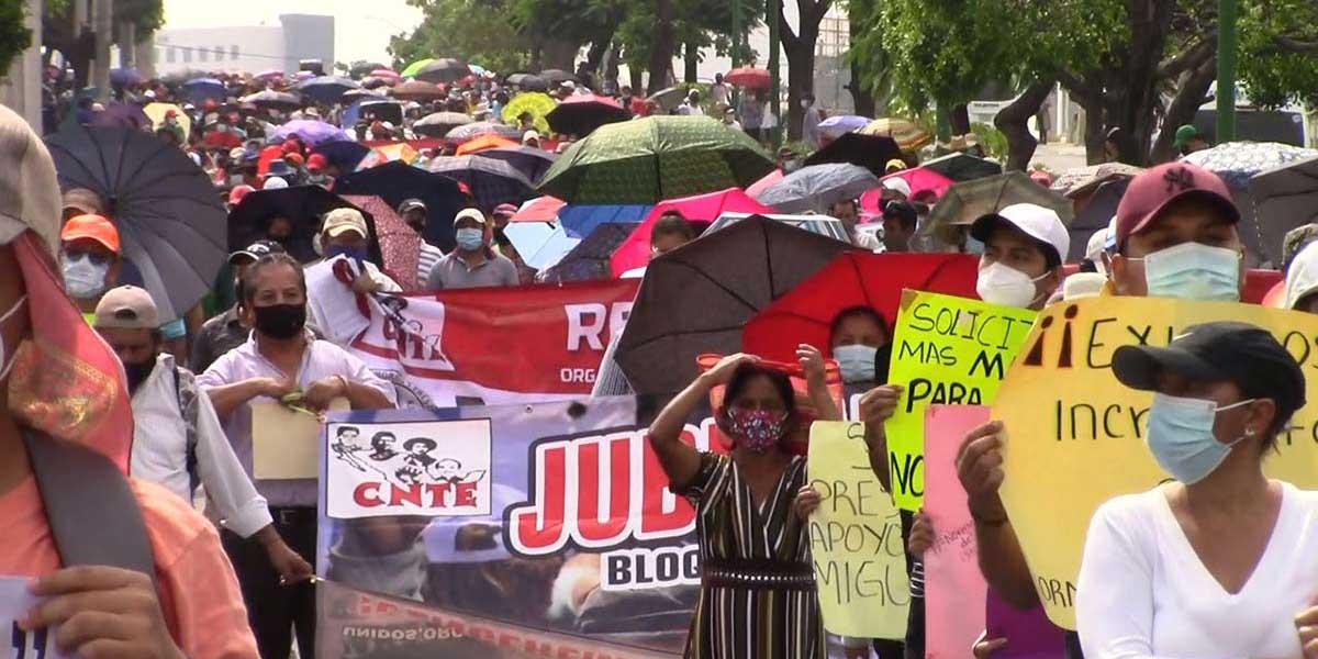 Maestros marchan para no volver a clases presenciales el 30 de agosto   El Imparcial de Oaxaca