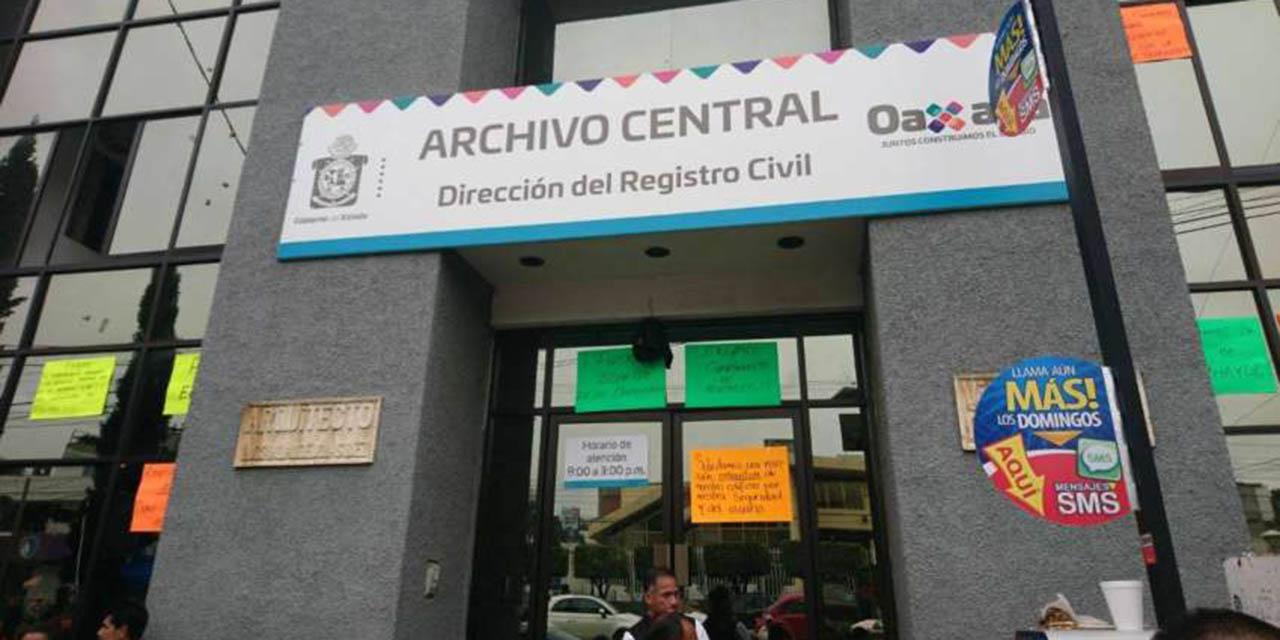 Brote de SARS-CoV-2 en el Registro Civil obliga a cerrar el Archivo Central   El Imparcial de Oaxaca