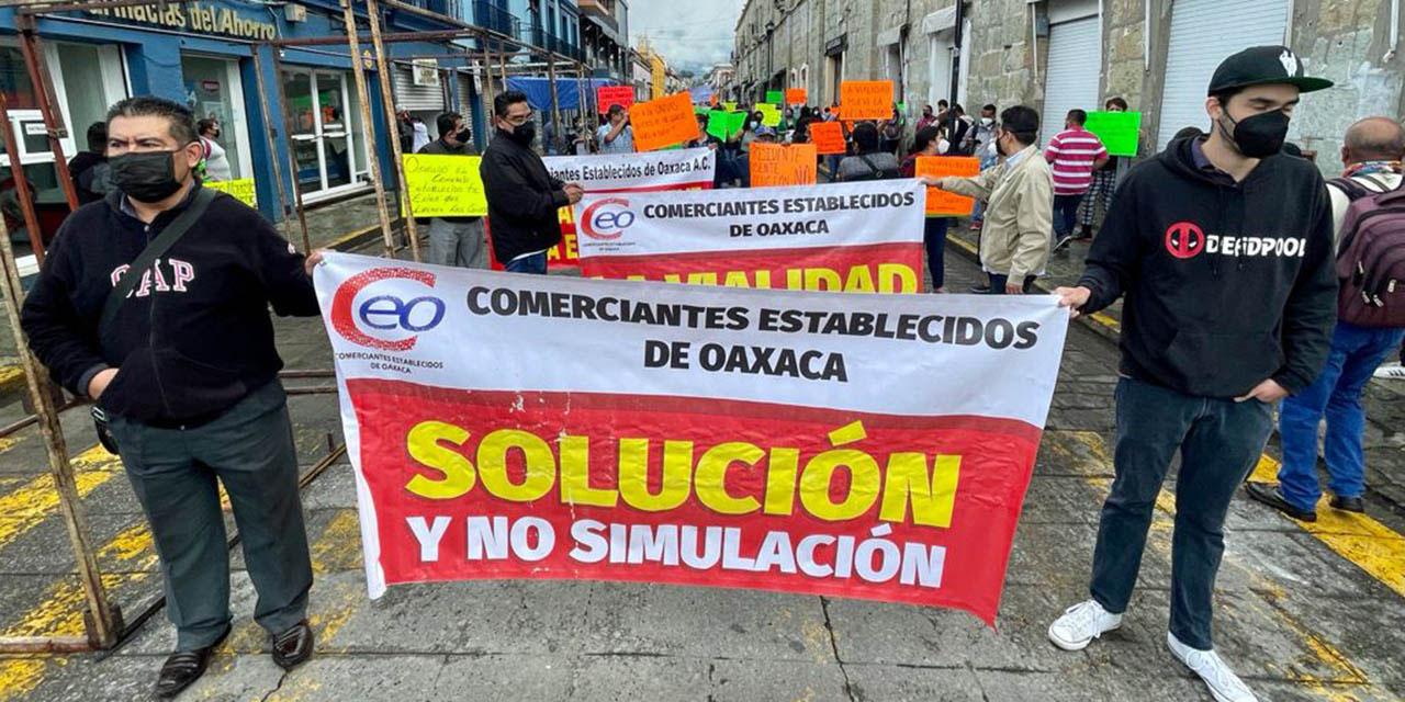 Establecimientos protestan en contra del comercio informal | El Imparcial de Oaxaca