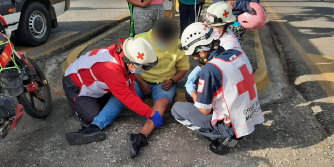 Motociclista derrapa y se lesiona en Oaxaca | El Imparcial de Oaxaca