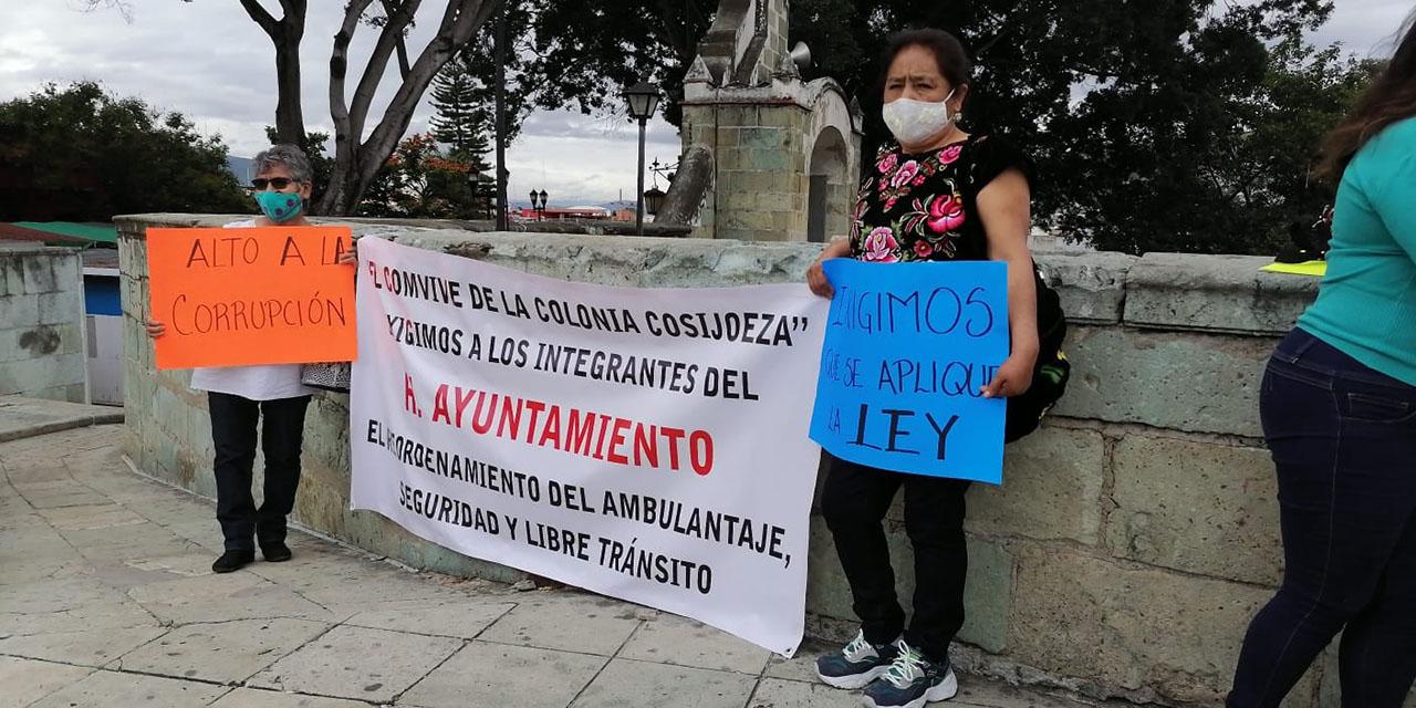 Protestan en Plaza de la Danza para exigir orden en la vía pública   El Imparcial de Oaxaca