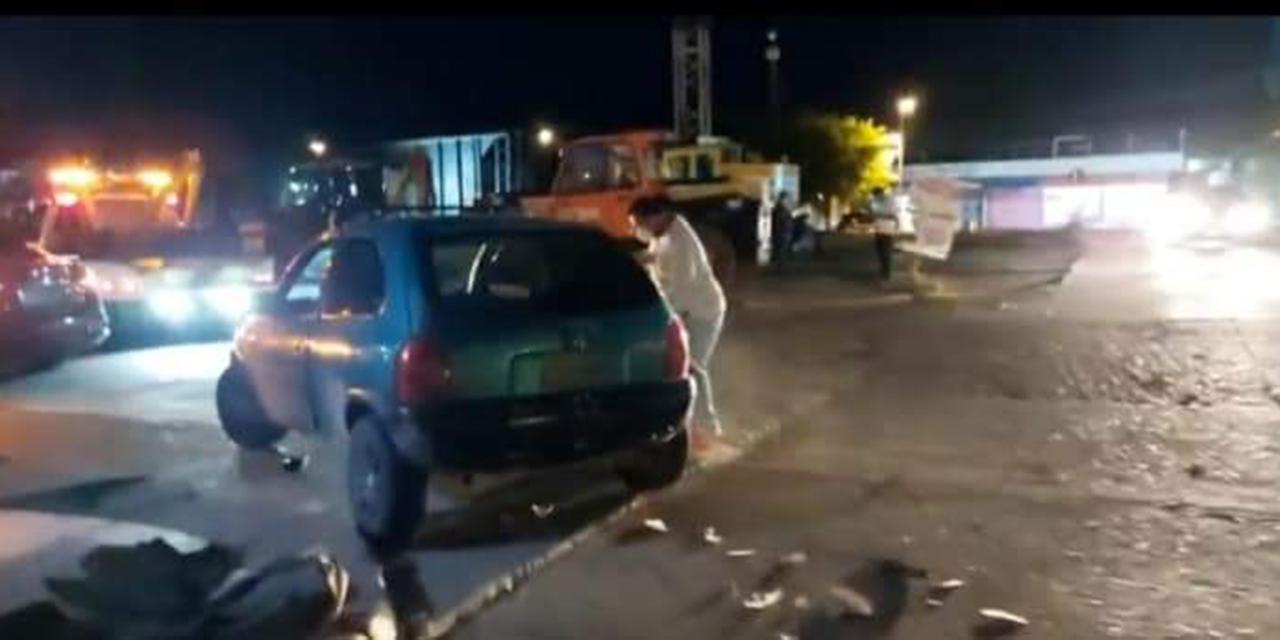 Ebrio conductor impacta a taxi en Ixtepec | El Imparcial de Oaxaca