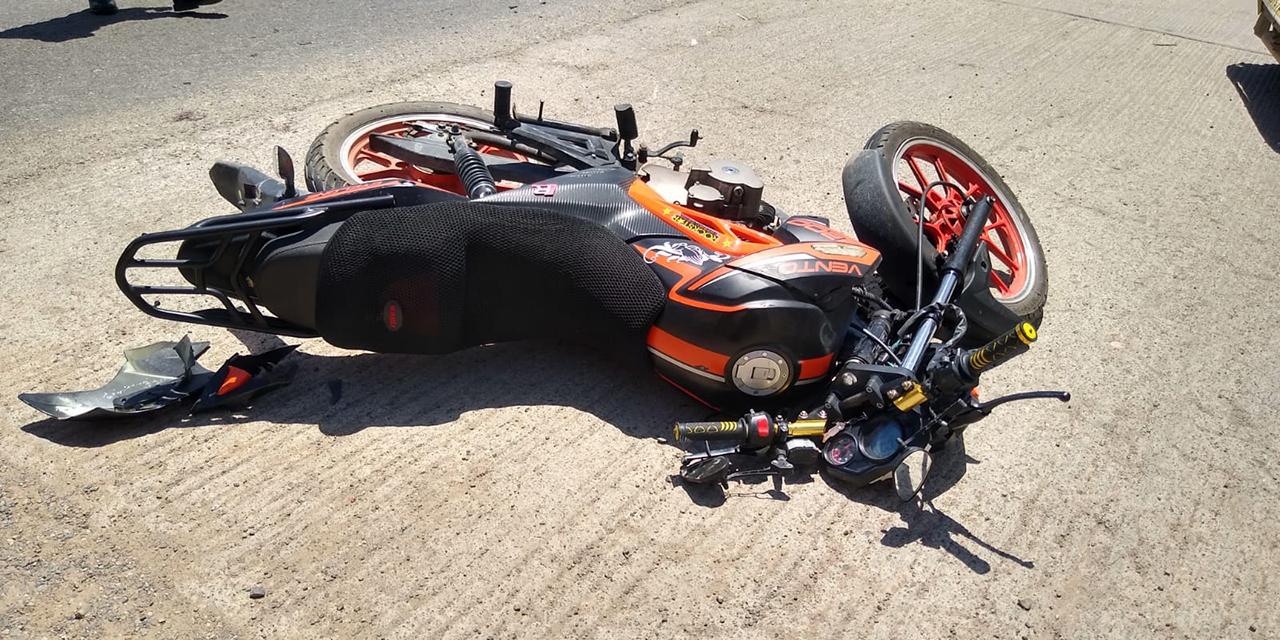 Chocan motocicleta y mototaxi en Tehuantepec | El Imparcial de Oaxaca