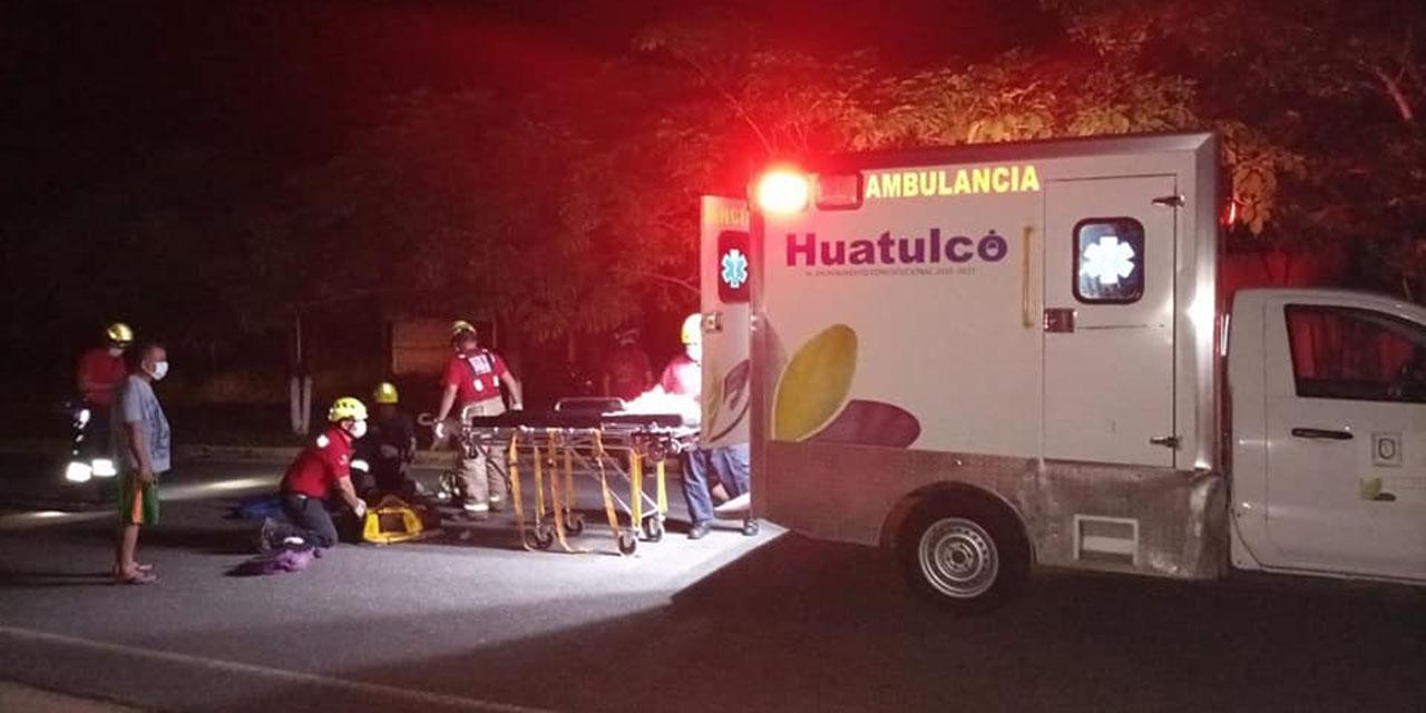 Auto arrolla a motociclista en Santa María Huatulco | El Imparcial de Oaxaca