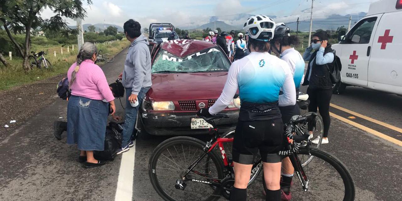 Taxista foráneo embiste a ciclista en Tlacolula | El Imparcial de Oaxaca