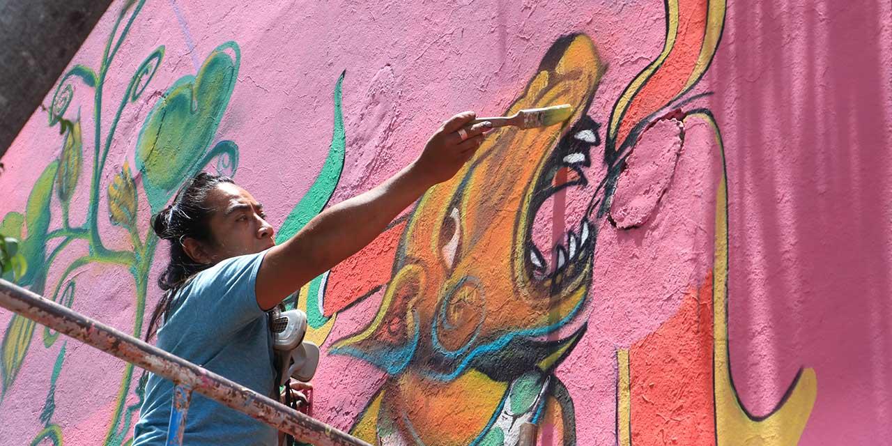 Artistas renuevan imagen del mercado Sánchez Pascuas   El Imparcial de Oaxaca