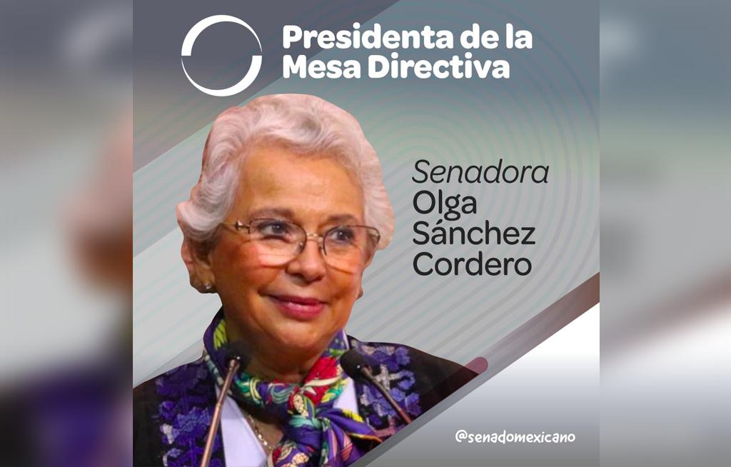 Olga Sánchez Cordero, presidenta de la Mesa Directiva del Senado | El Imparcial de Oaxaca