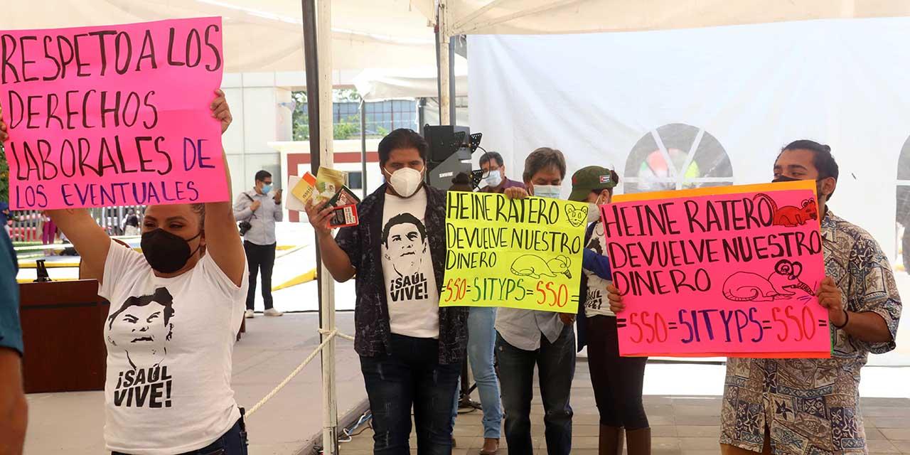Comparecencia en medio de gritos, irritación y protestas; exigen renuncia de Márquez Heine   El Imparcial de Oaxaca
