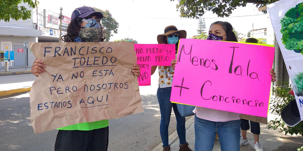 Protestan para frenar presunto ecocidio en Símbolos Patrios | El Imparcial de Oaxaca