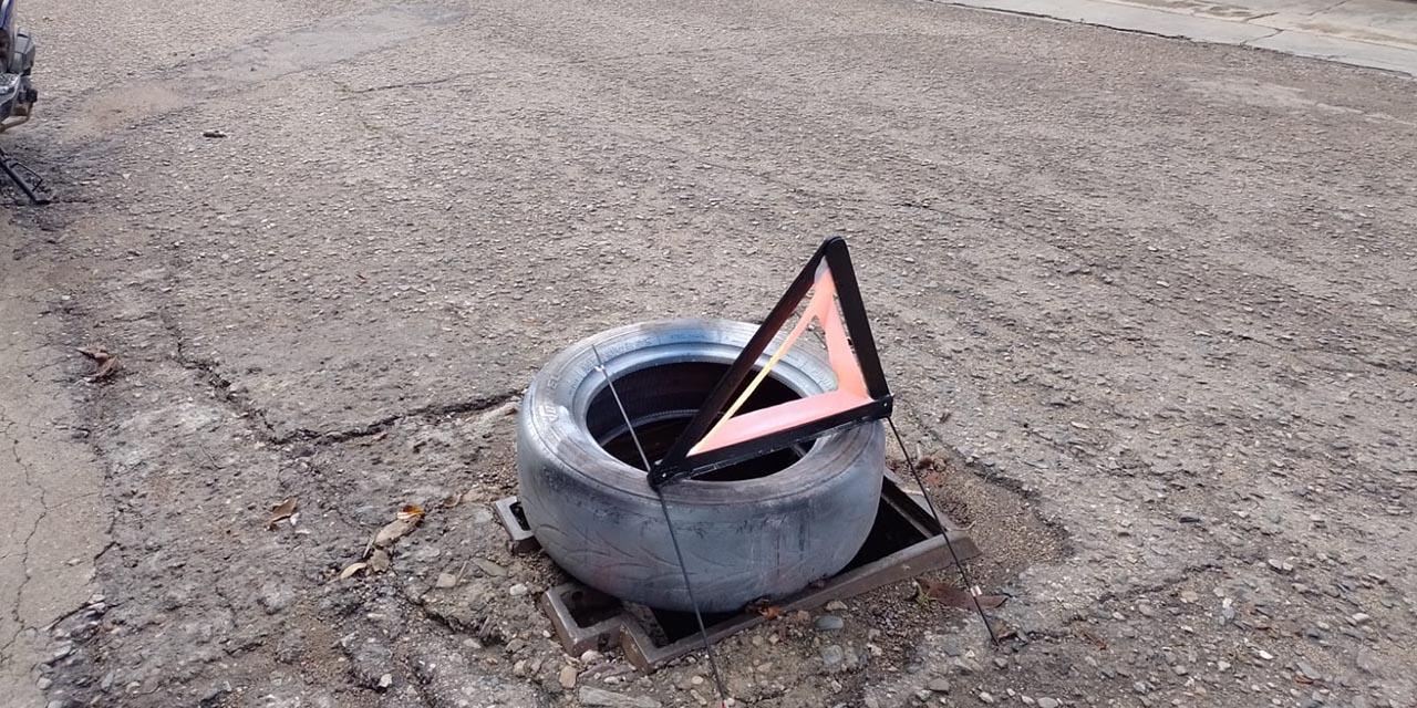 Continúa robo de alcantarilla en Oaxaca | El Imparcial de Oaxaca