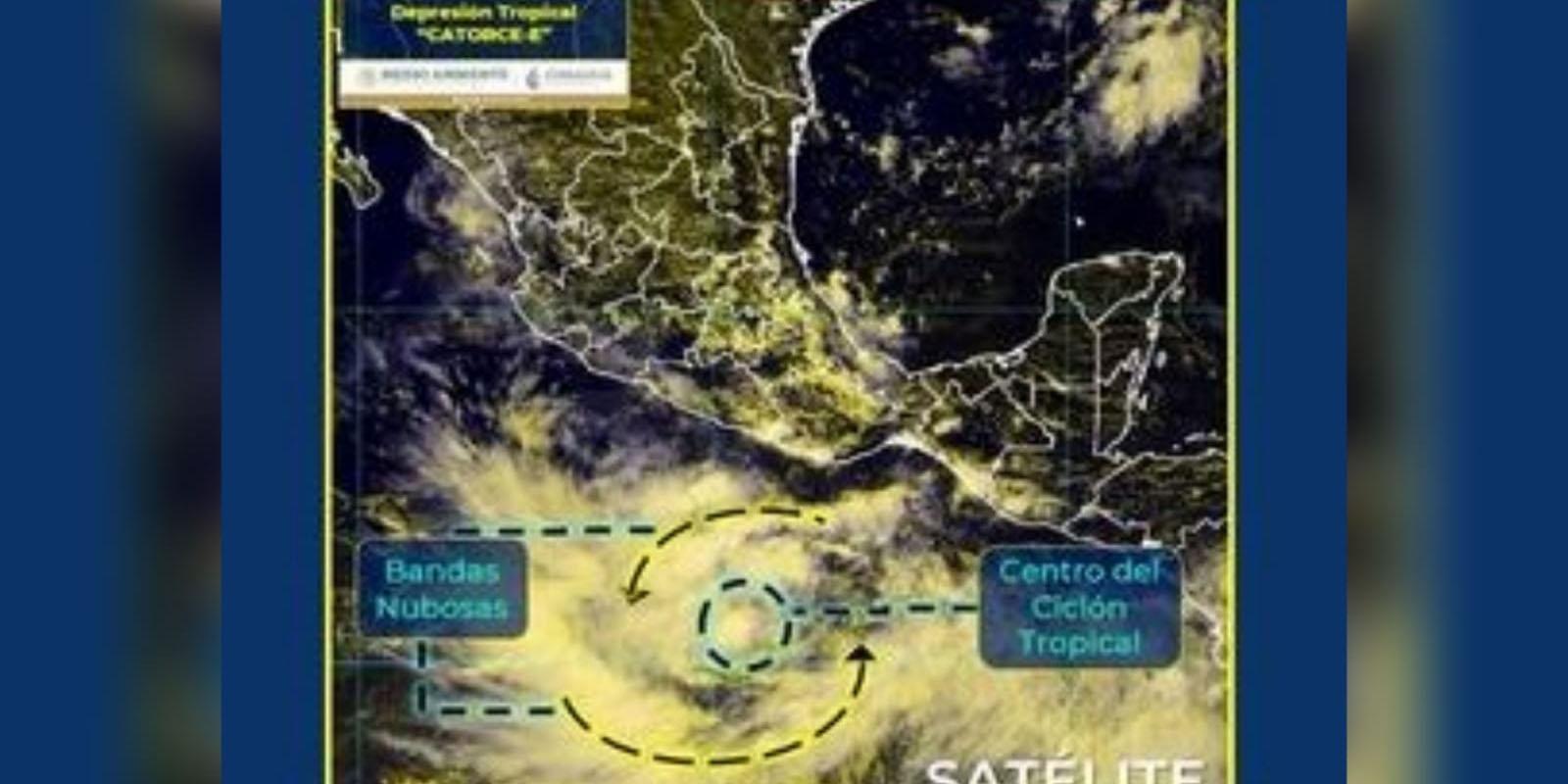 Depresión tropical 14-E se forma frente a las costas de Guerrero   El Imparcial de Oaxaca