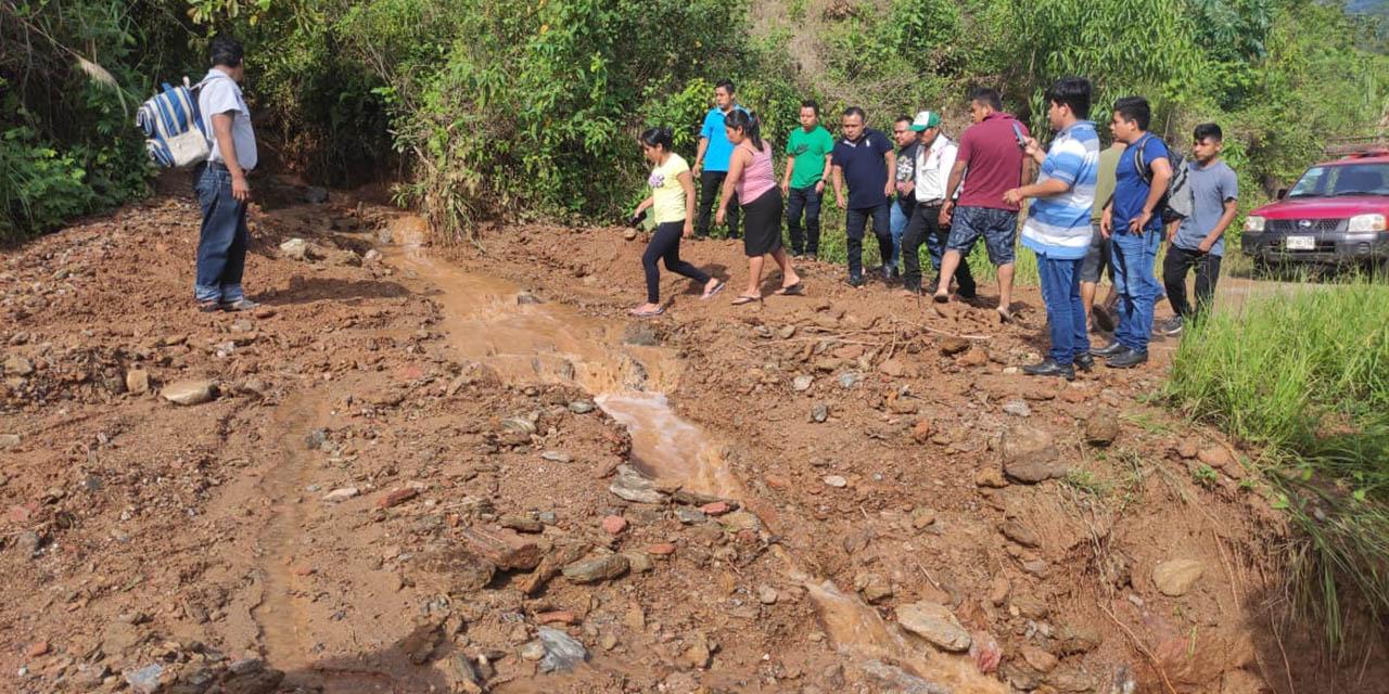 Lluvias dejan daños en caminos rurales de la Sierra Norte | El Imparcial de Oaxaca