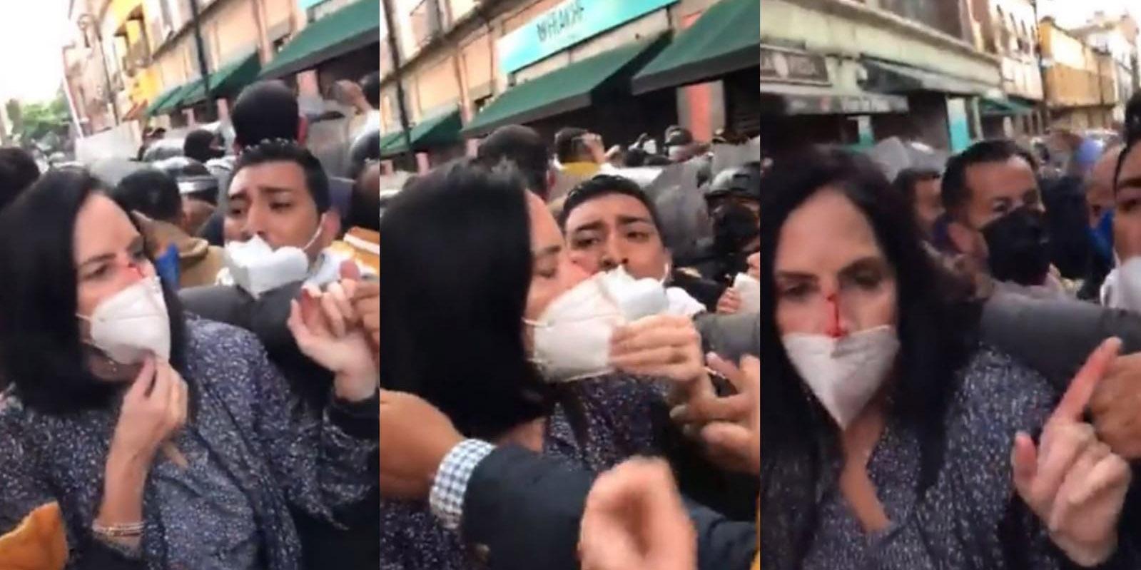 Policías de la capital del país agredieron a Lía Limón y a Mauricio Tabe   El Imparcial de Oaxaca