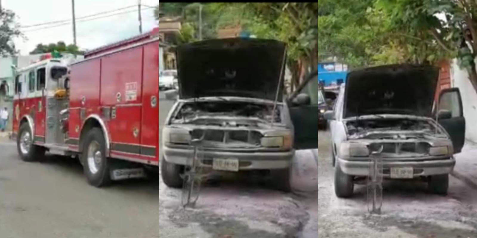Se incendia camioneta frente al Museo del Ferrocarril   El Imparcial de Oaxaca