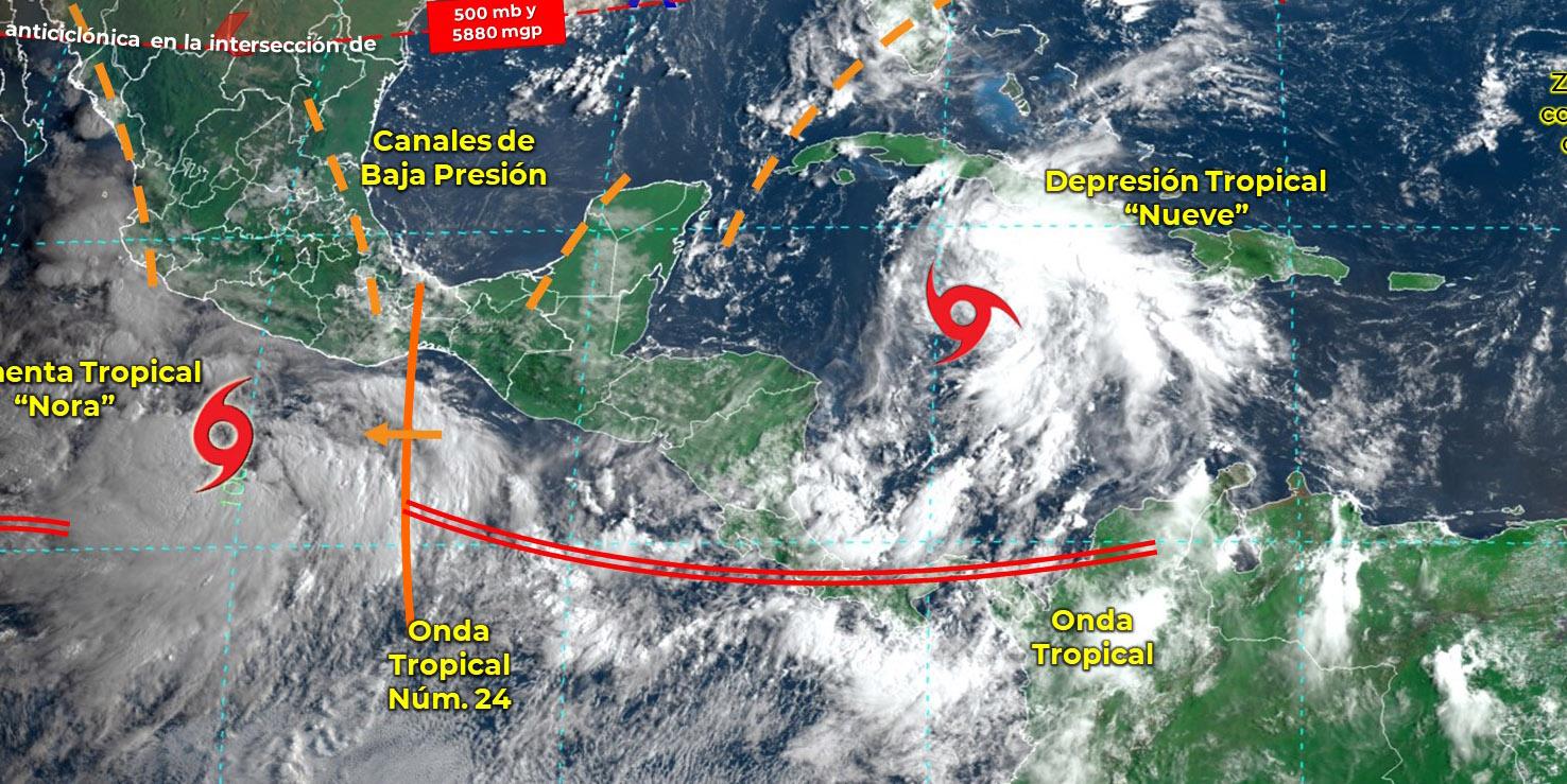 Se forma la depresión tropical 9 en el mar Caribe, ¿se esperan más lluvias?   El Imparcial de Oaxaca