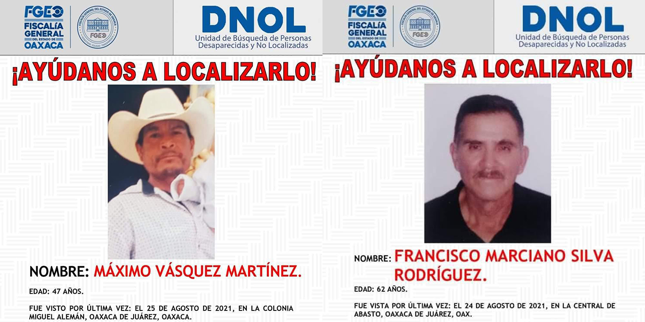 Desaparecen dos hombres   El Imparcial de Oaxaca