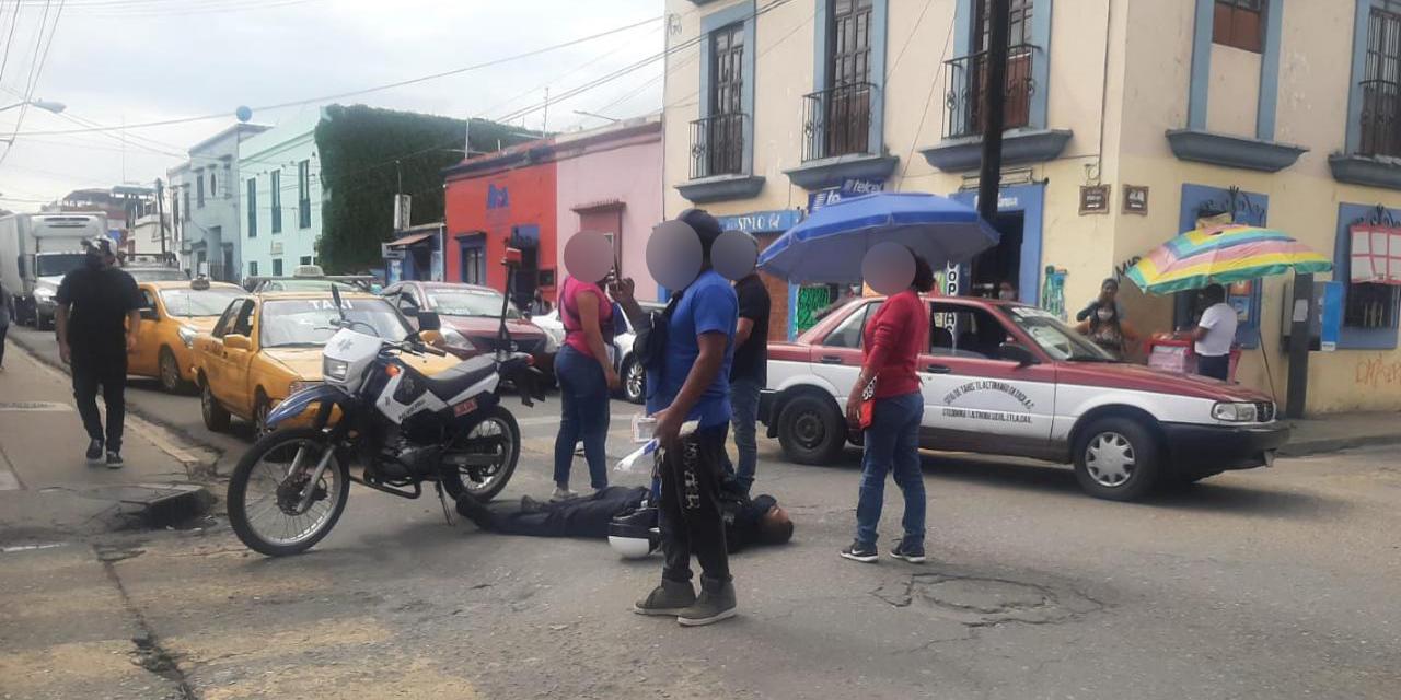 Arrollan a policía vial en el Centro | El Imparcial de Oaxaca