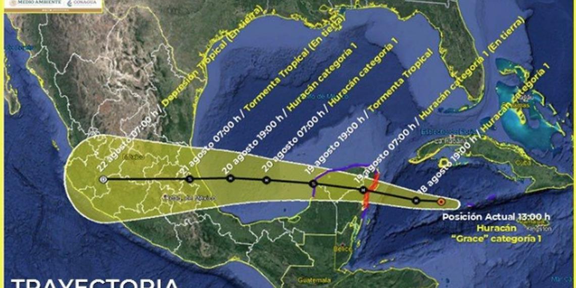 'Grace' se interna en Veracruz y tocará tierra esta noche como huracán de categoría 2   El Imparcial de Oaxaca