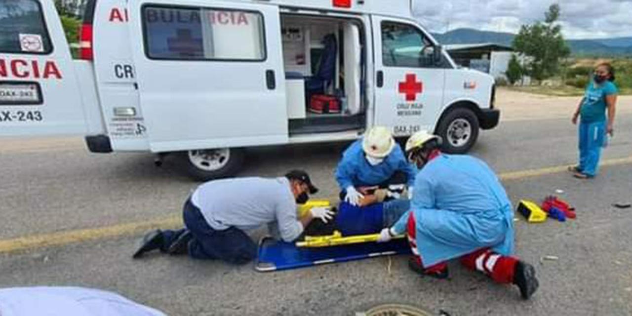 Motociclista se accidenta en carretera a Miahuatlán | El Imparcial de Oaxaca