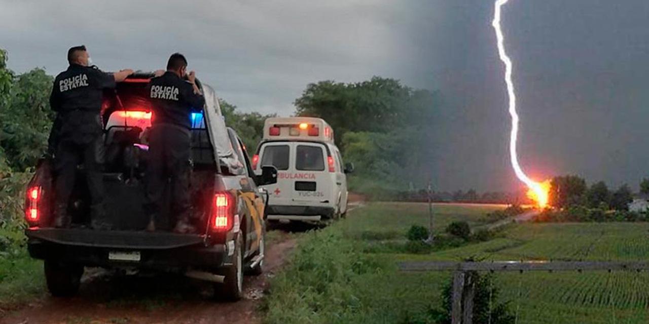 Rayo impacta a dos personas en la Ciénega | El Imparcial de Oaxaca