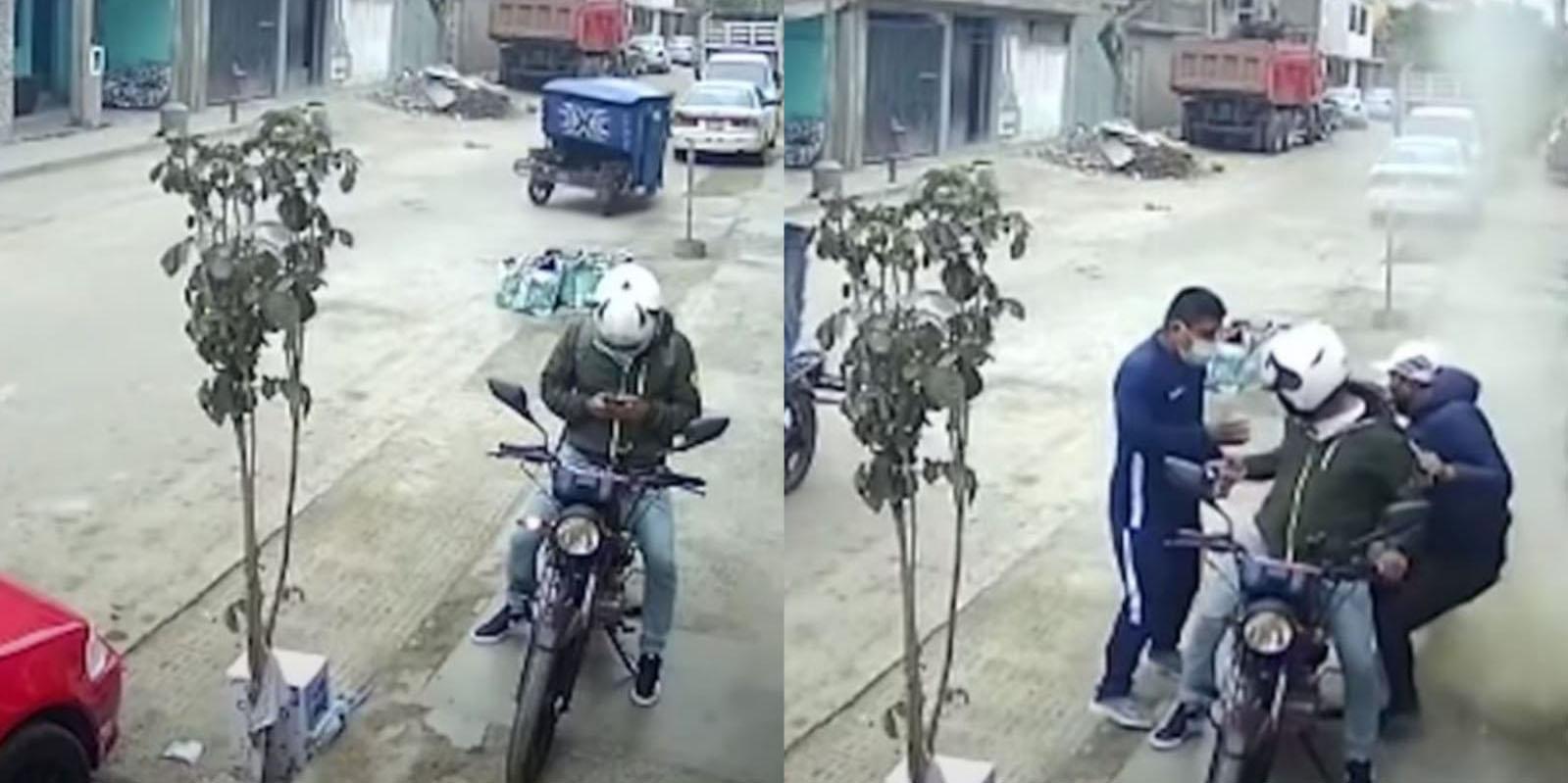 Video: Albañil lanza bolsa con escombros a ladrones para frustrar asalto | El Imparcial de Oaxaca
