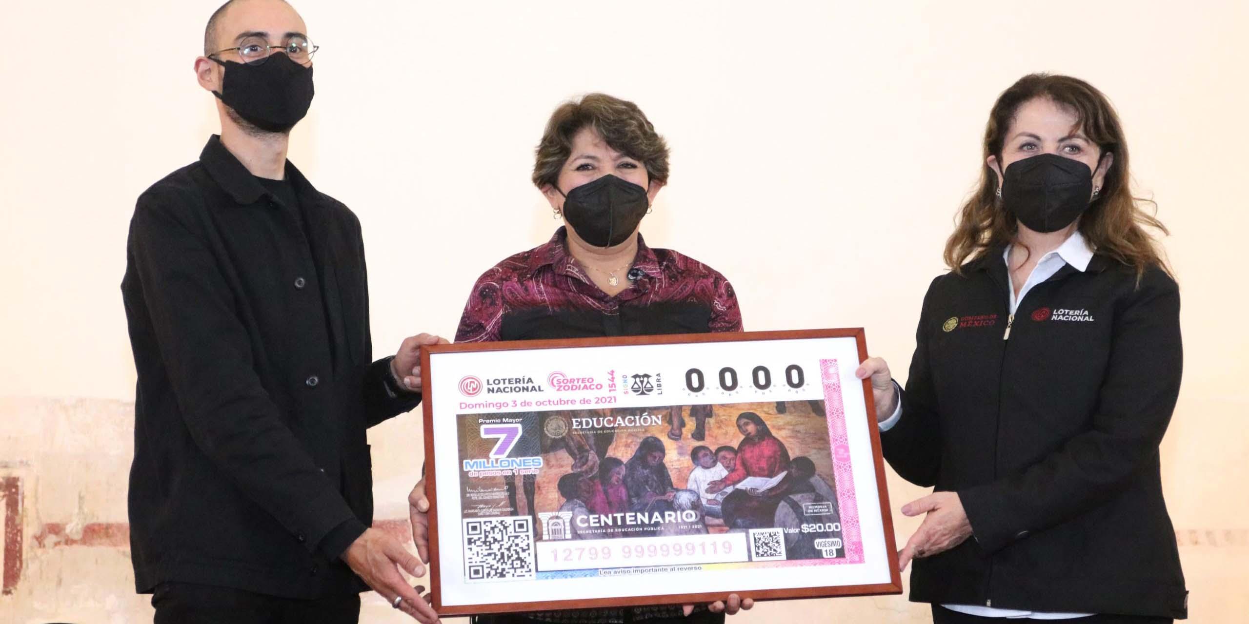 Presentan nuevo billete de lotería conmemorativo del Centenario de la Fundación de la SEP | El Imparcial de Oaxaca