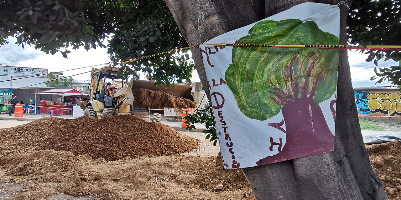 Pese a amparo, continúan trabajos en Símbolos Patrios   El Imparcial de Oaxaca