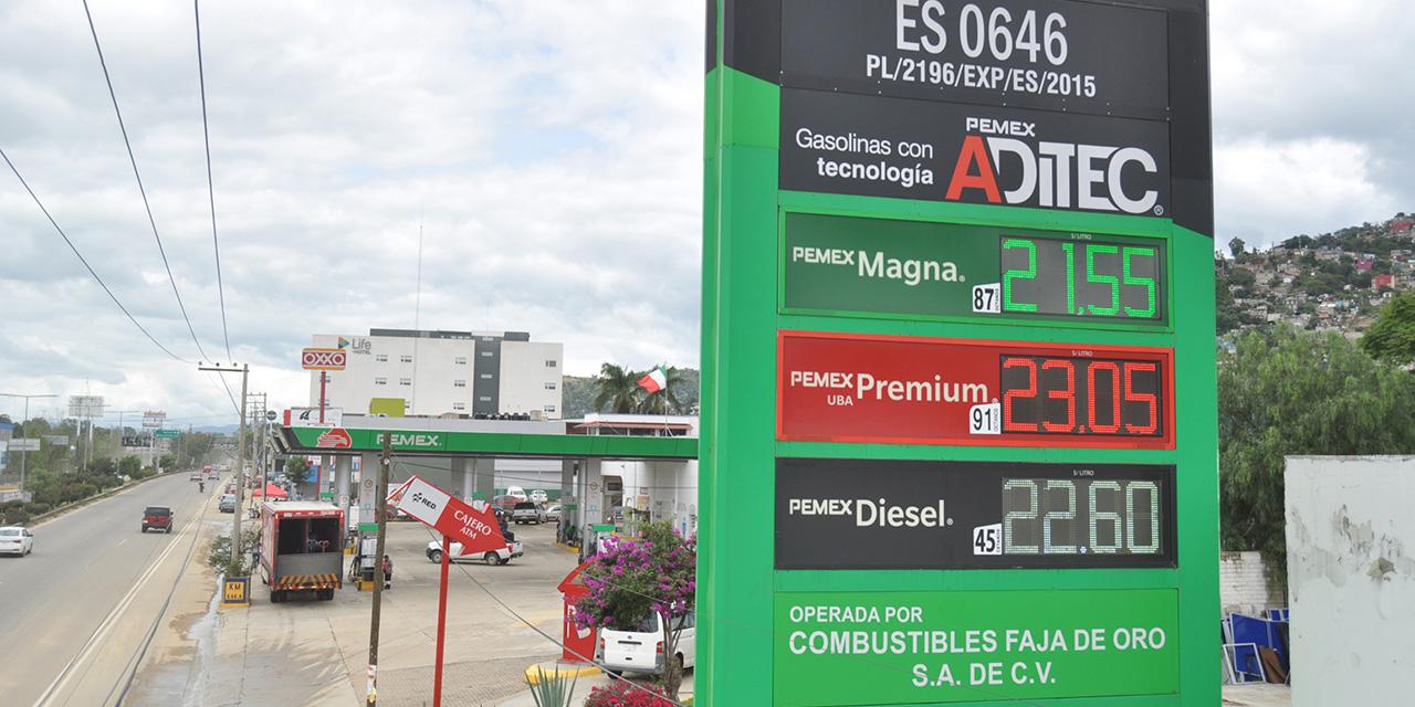 El litro de Premium rebasa los 23 pesos | El Imparcial de Oaxaca