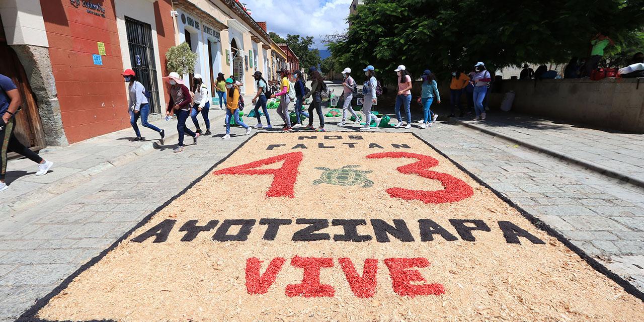 ¡Ni perdón ni olvido!, el clamor a siete años de Ayotzinapa | El Imparcial de Oaxaca
