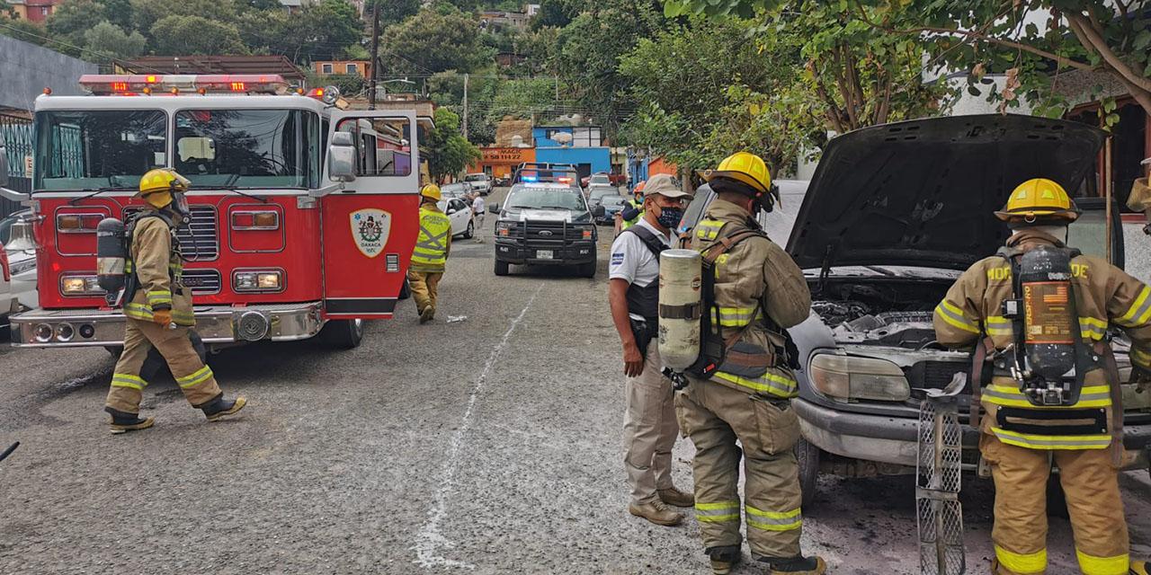 Se incendia camioneta en Oaxaca   El Imparcial de Oaxaca
