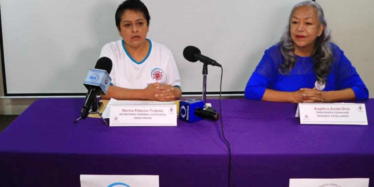 Anuncian alianza GESMujer y SINACTRAHO   El Imparcial de Oaxaca