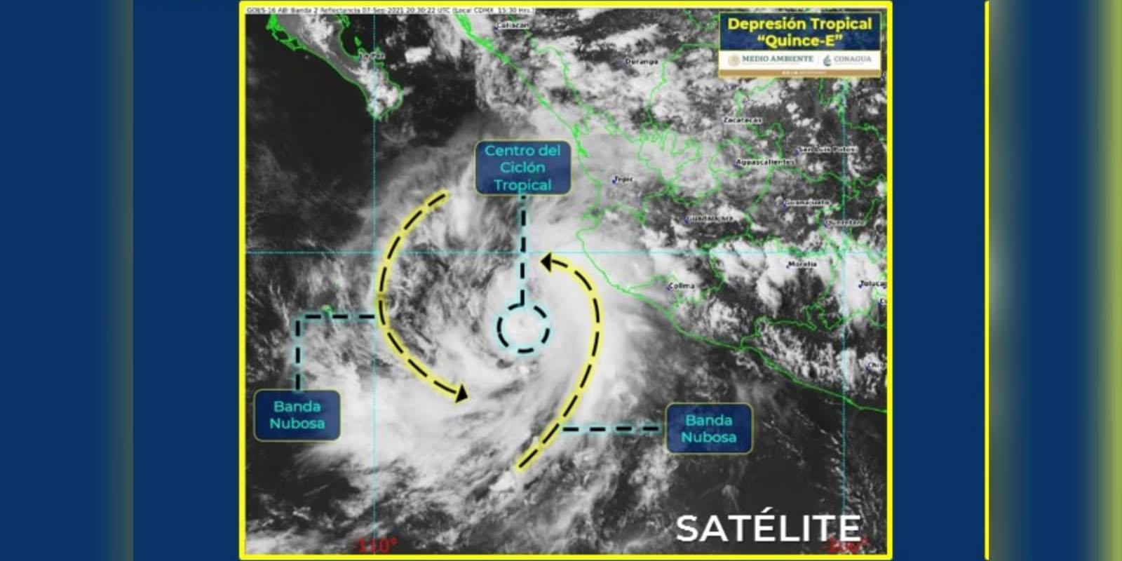 Se forma la depresión tropical 15-E en el Pacífico mexicano, afirma Conagua | El Imparcial de Oaxaca
