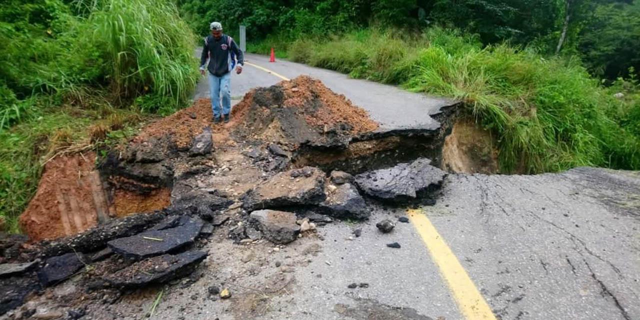 Colapsa carretera federal 125   El Imparcial de Oaxaca