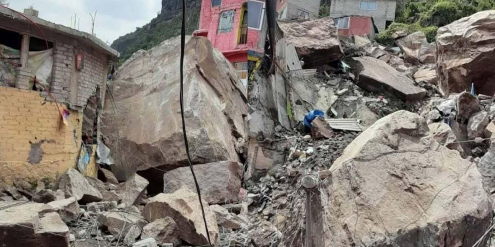 Se desgaja Cerro del Chiquihuite en Tlalnepantla; hay personas atrapadas bajo escombros   El Imparcial de Oaxaca