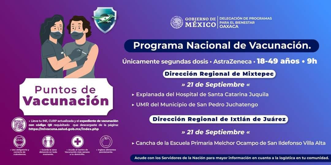 Anuncian segundas dosis AstraZeneca en tres regiones   El Imparcial de Oaxaca