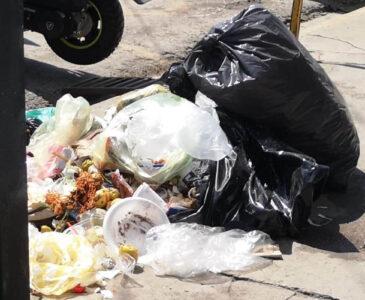 Sin el servicio de recolección de basura varias calles del Centro