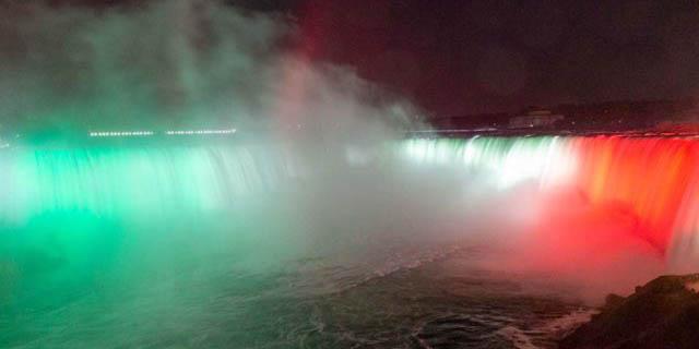 Canadá celebra la Independencia de México con iluminación de las cataratas del Niágara | El Imparcial de Oaxaca