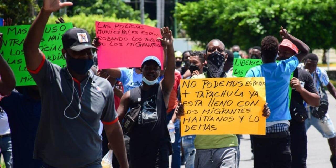 Haitianos se manifiestan en Chiapas; van a solicitar más de 7 mil amparos   El Imparcial de Oaxaca