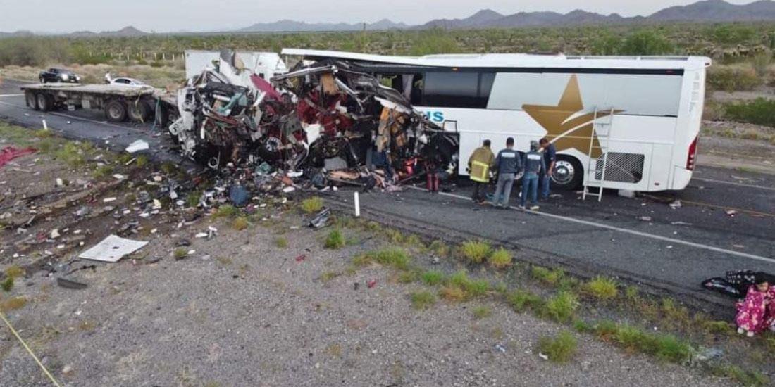Choque en Sonora entre un autobús y tráiler deja 16 muertos y 22 heridos   El Imparcial de Oaxaca