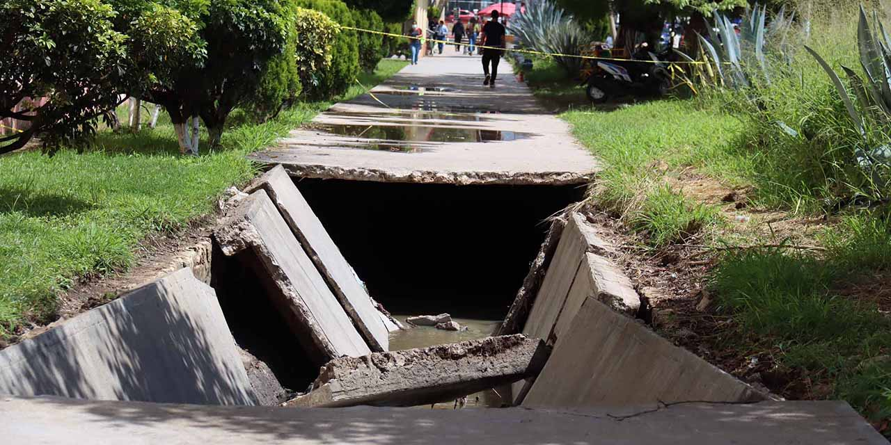 Sin atender, colapso en canal de Trinidad de las Huertas | El Imparcial de Oaxaca