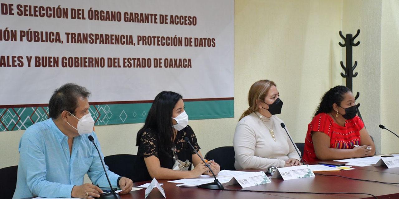 Avanza proceso de selección de comisionados del órgano de transparencia del estado | El Imparcial de Oaxaca