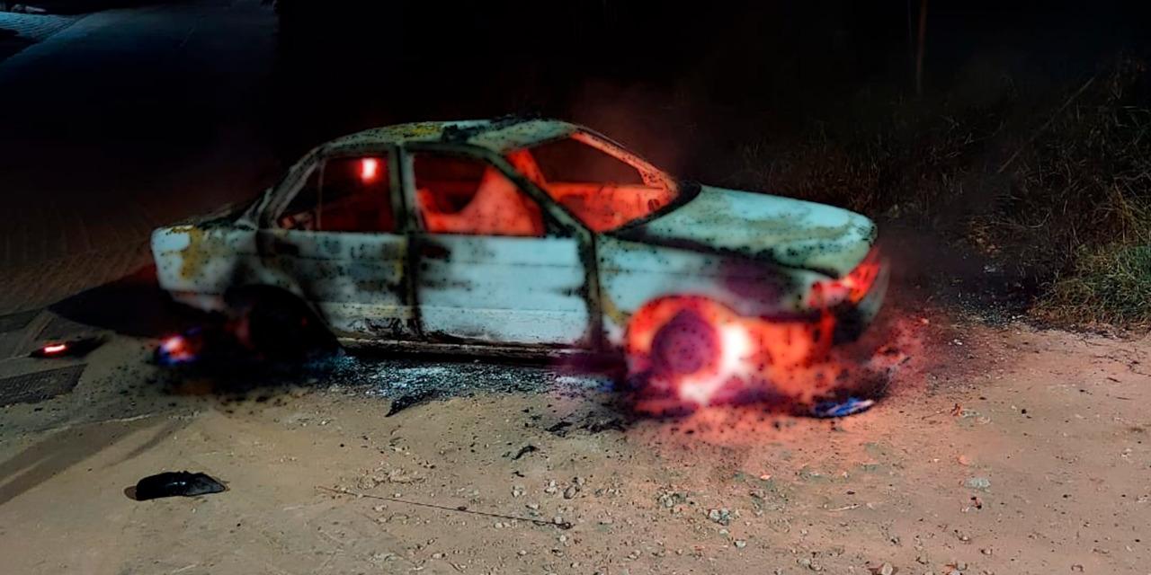 Asaltan a taxista y queman su unidad en Monte Albán   El Imparcial de Oaxaca