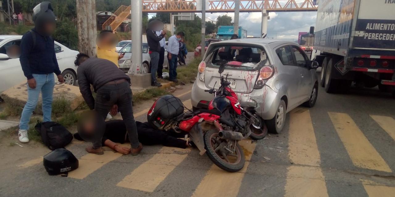 Se estrella detrás de un automóvil en Hacienda Blanca   El Imparcial de Oaxaca