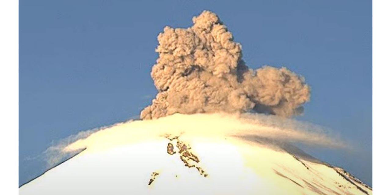 Popocatépetl amanece con explosión y gran fumarola   El Imparcial de Oaxaca