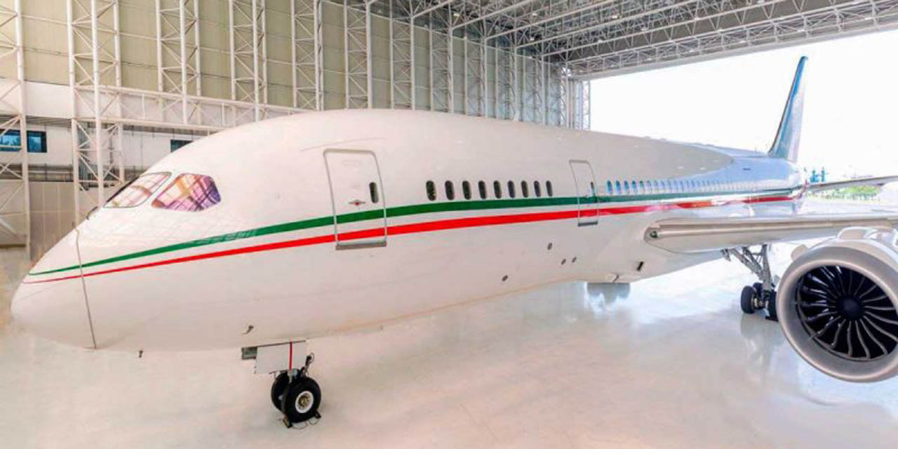 Ya sin emblemas se lanza a la venta del avión presidencial | El Imparcial de Oaxaca